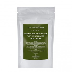 Green, Red & White Tea with Mint Leaves Body Wrap