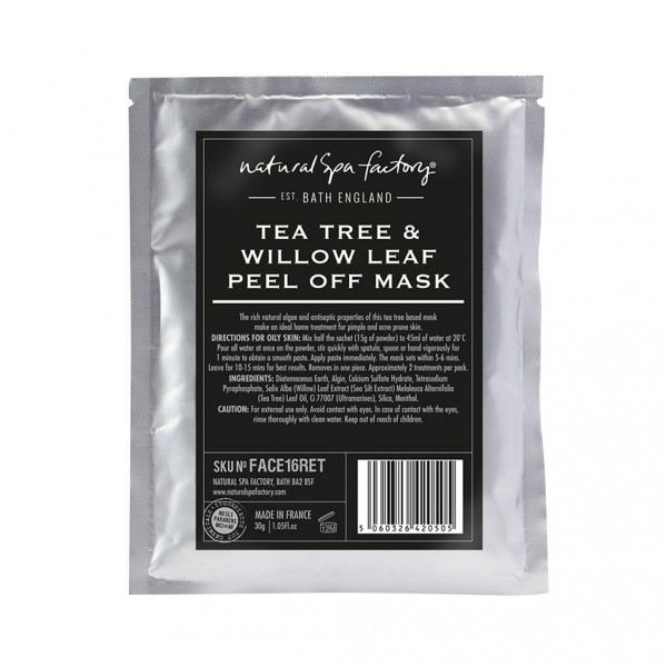 Tea Tree, Willow Leaf & Menthol Face Mask